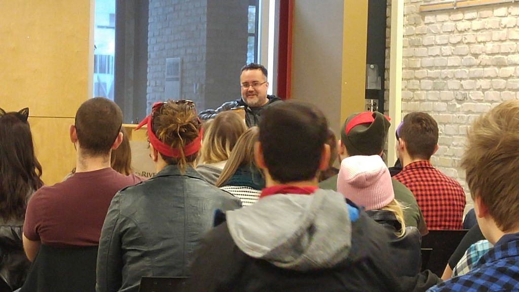 Lucasfilm Creative Executive Pablo Hidalgo speaks visits his alma mater to tell CreComm students how he made it from Winnipeg to the Star Wars universe.